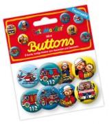 """8 Mini Buttons """"Feuerwehr"""""""