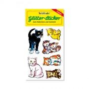 Katzen Glitter Sticker