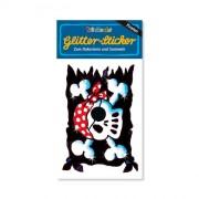 Piratenflagge Glitter Sticker