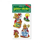 Weihnachtsmann Glitter Sticker