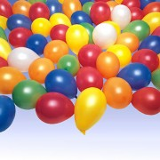 25 bunt gemischte Luftballons