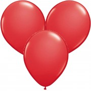 100 Luftballons in Rot