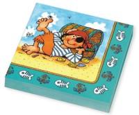 20 Piraten-Servietten Pit Planke