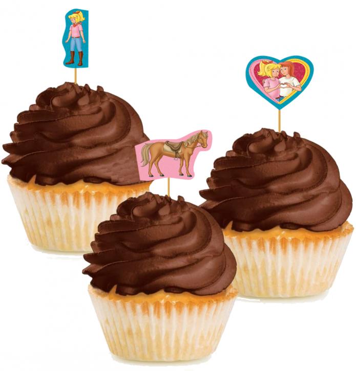 10 Cupcake Deko-Sticks - Bibi und Tina