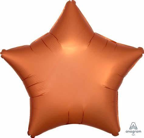 Folienballon Stern - Satin Amber (48cm)