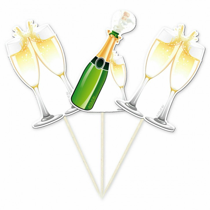 """10 Party-Picker """"Champagner"""""""