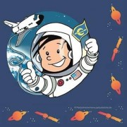20 Servietten Astronaut Flo
