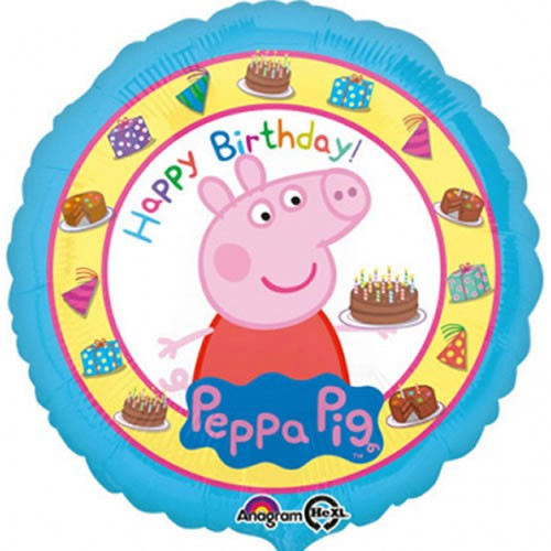 Folienballon Peppa Pig - Happy Birthday (43cm)