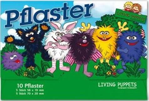 10 Kinder-Pflaster Monster