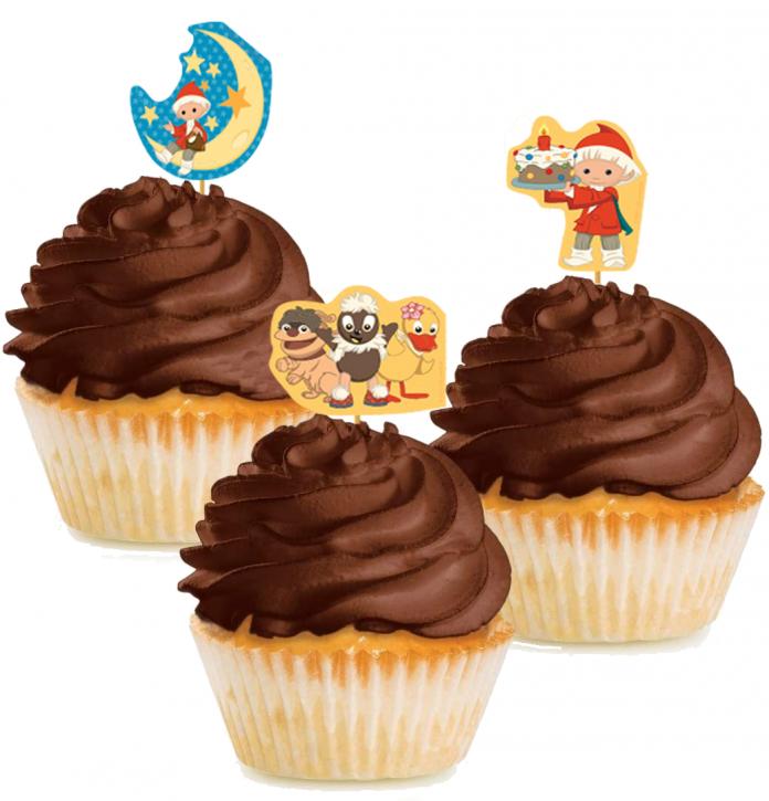 10 Cupcake Deko-Sticks - Unser Sandmännchen