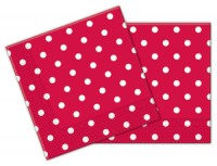 20 Servietten Gartenparty (Red Dots)