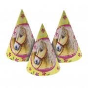 6 Partyhütchen Ponys und Pferde II