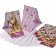 6 Einladungskarten + Umschläge Ponys und Pferde II