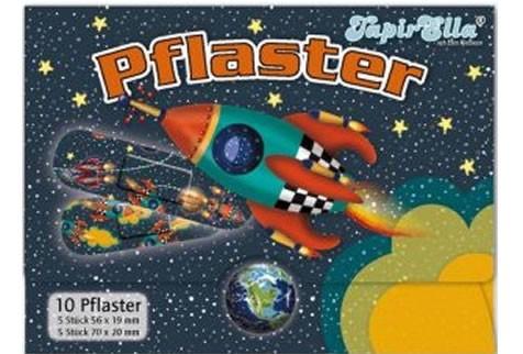 10 Kinder-Pflaster Rakete