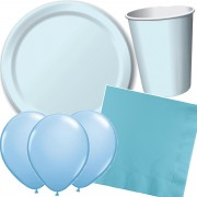37-teiliges Spar-Set: Pastell-Blau