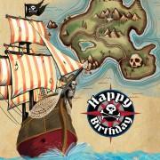 16 Servietten Schatzkarte Pirat