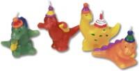 4 Mini-Figurenkerzen Dinos und T-Rex