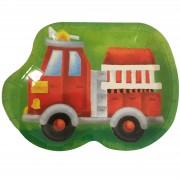 8 Teller süßes Feuerwehrauto