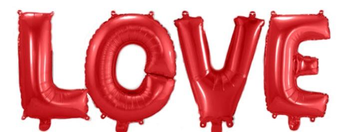 "Air-Filled Folienballon Rot - ""LOVE"" (á 36cm)"