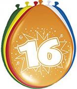 8 Luftballons Zahl 16