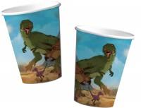 8 Becher Dinos und T-Rex