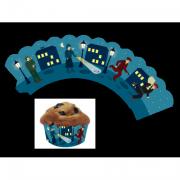 12 Cupcake Deko-Banderolen Detektiv für Muffins