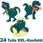 24-teiliges XXL Konfetti Dinosaurier / T-Rex