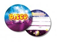 6 Einladungskarten Disco