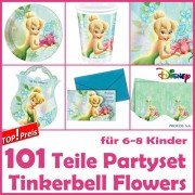 101-teiliges TINKERBELL Kindergeburtstag-Set