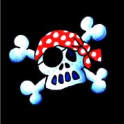 20 Piraten-Servietten Jolly Roger