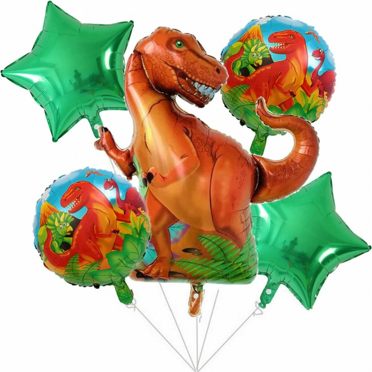Folienballon-Set Dinos und T-Rex