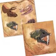 20 Servietten Dinos und T-Rex