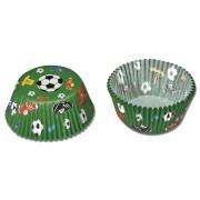 50 Muffin-Förmchen Fußball