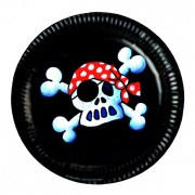 8 Piraten-Teller Jolly Roger