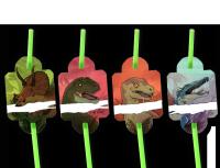 8 Trinkhalme Dinos und T-Rex