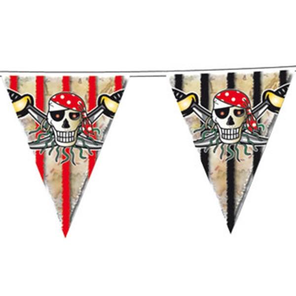Wimpelkette Piraten - Red Pirate