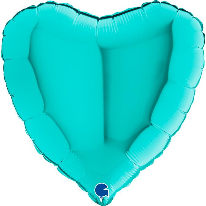 Folienballon Herz - Tiffany (46cm)