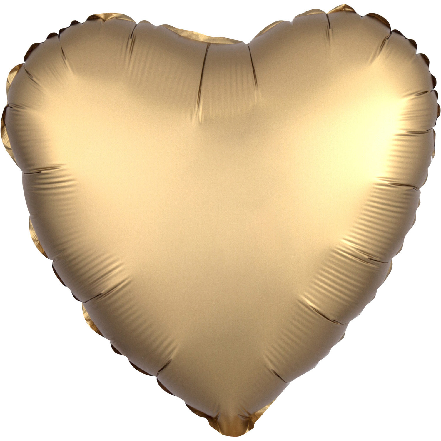 Folienballon Herz - Satin Luxe Gold Sateen (43cm)