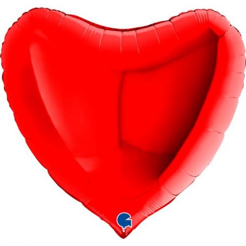 XXL Folienballon Herz - Red (91cm)