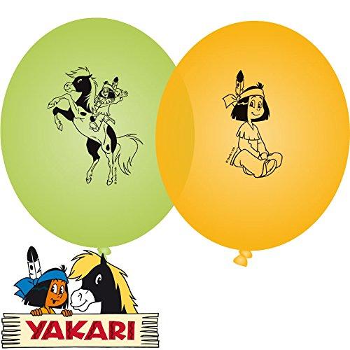 8 Luftballons Indianer Yakari
