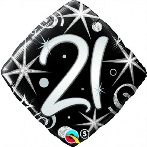 """Folienballon """"21"""" - von Qualatex - Ohne Helium-Füllung"""