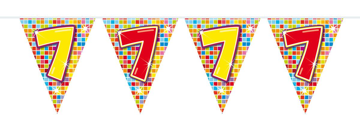 Wimpelkette für den 7. Geburtstag