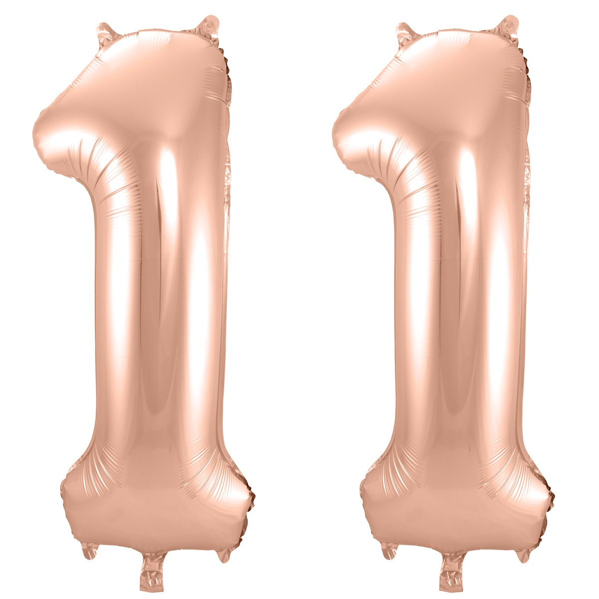 Folienballon-Set Zahl 11 - in Roségold