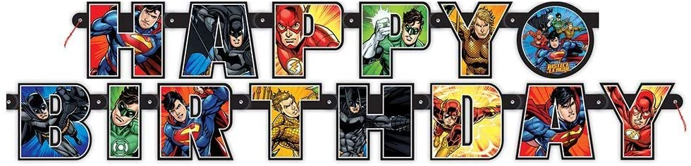 Buchstabengirlande Justice League
