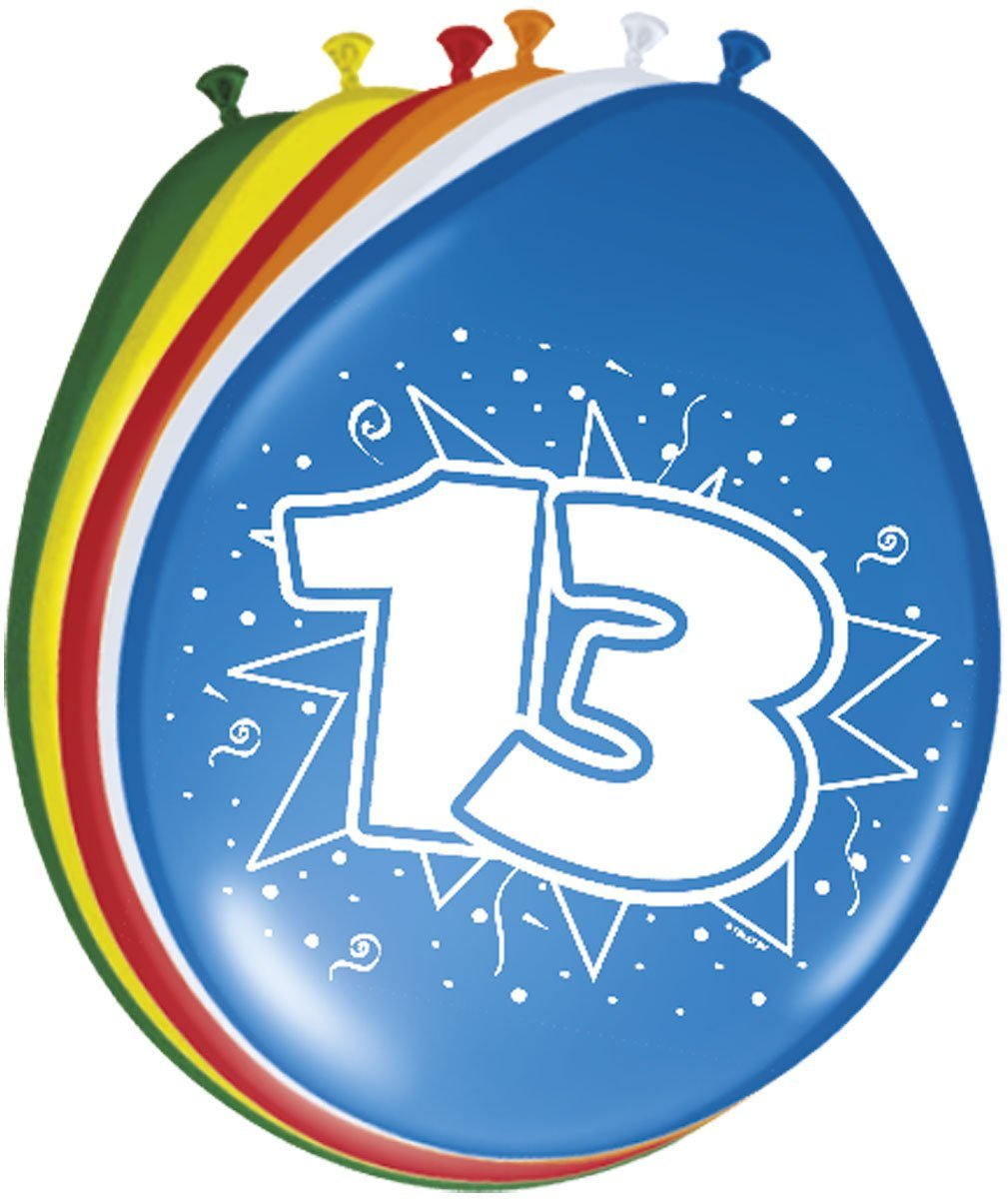 8 Luftballons Zahl 13