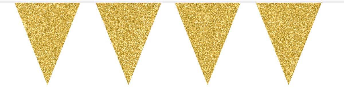 Wimpelkette Metallic-Gold