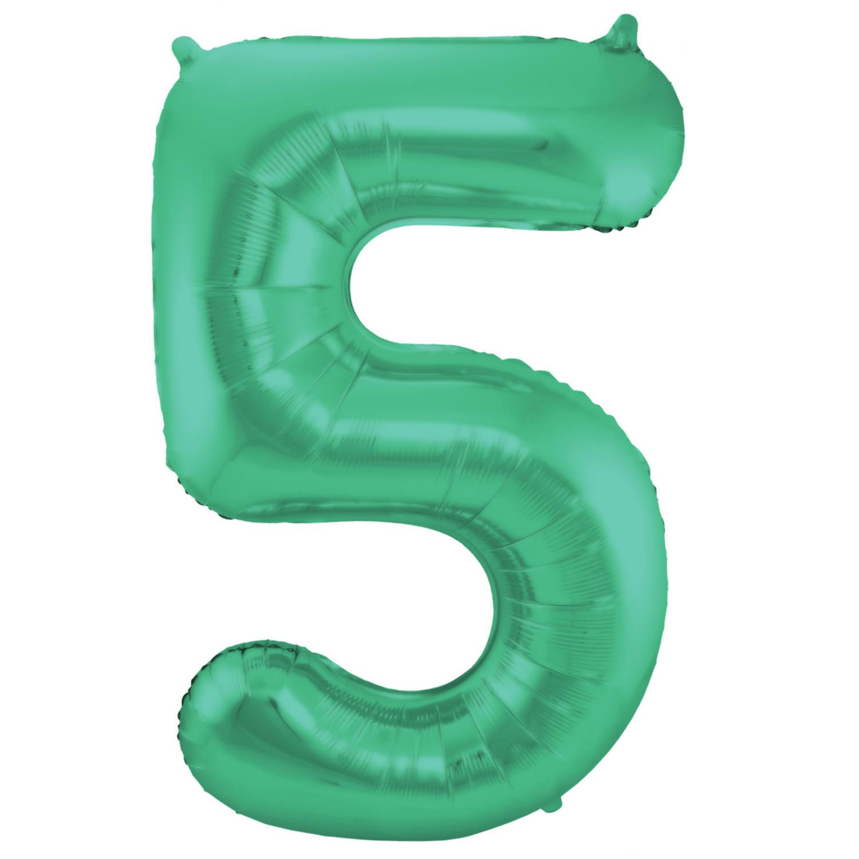 Folienballon Zahl 20   in Grün, für Luft und Helium, 20cm, von Folat