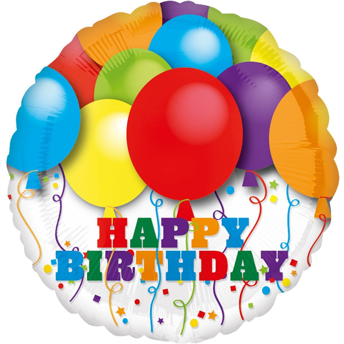 Folienballon Happy Birthday - Ohne Helium