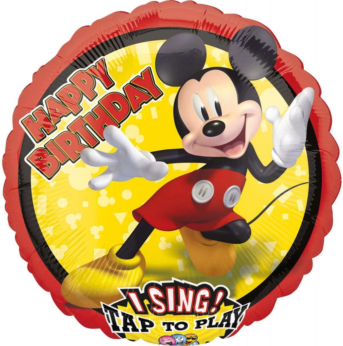 Singender Folienballon Micky Maus