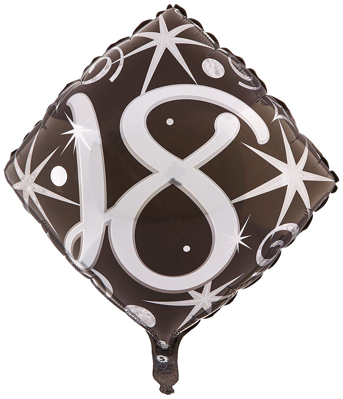 """Folienballon """"18"""" - von Qualatex - Ohne Helium-Füllung"""